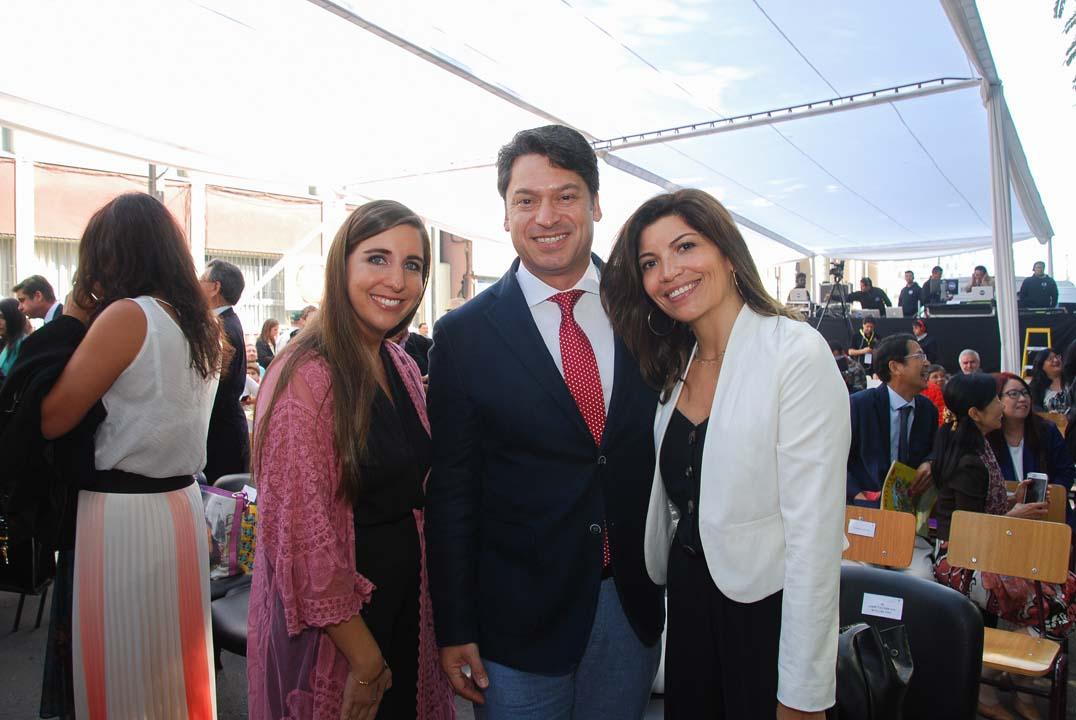 Carolina Márquez, Jaime Valderrama y Alejandra Inda