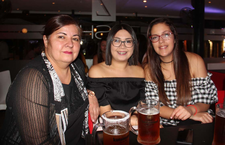 Ema Reyes, Génesis Reyes y Camila Fuentes