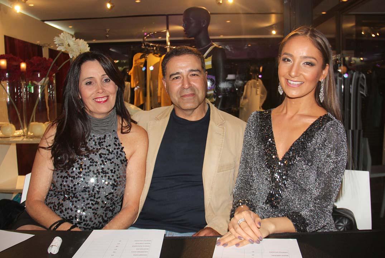 Fernanda Machuca, Gonzalo Parra y Camila Santander