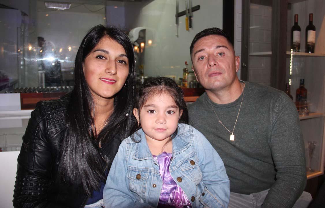 Flor Correa, Amaya Jiménez y Marcelo Jiménez