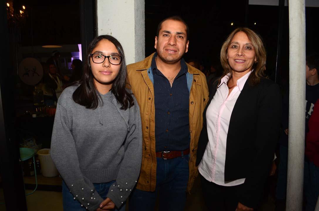 Belén Quiroz, Abel Quiroz y Marcia García