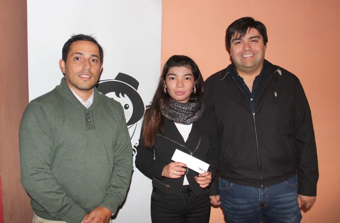 Sebastián Fritzer, Nicole Escobar y Hansel Silva
