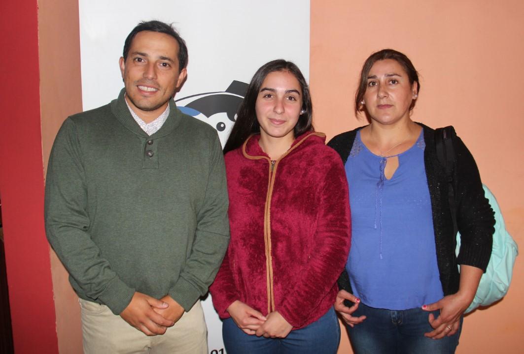 Sebastián Fritzer, Daisy Castillo y Yessica Melo