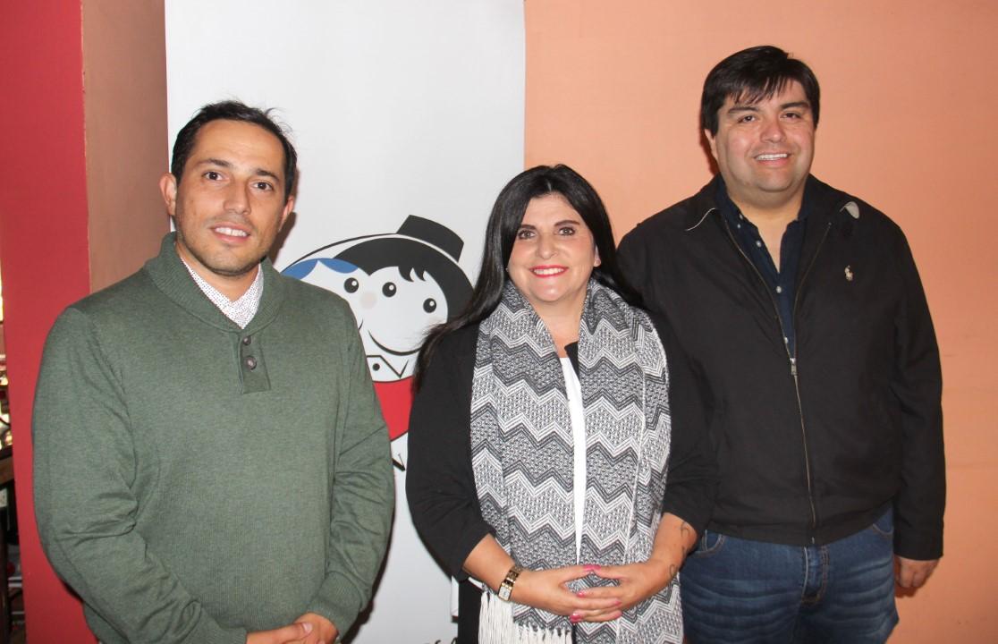 Sebastián Fritzer, Marisol López y Hansel Silva