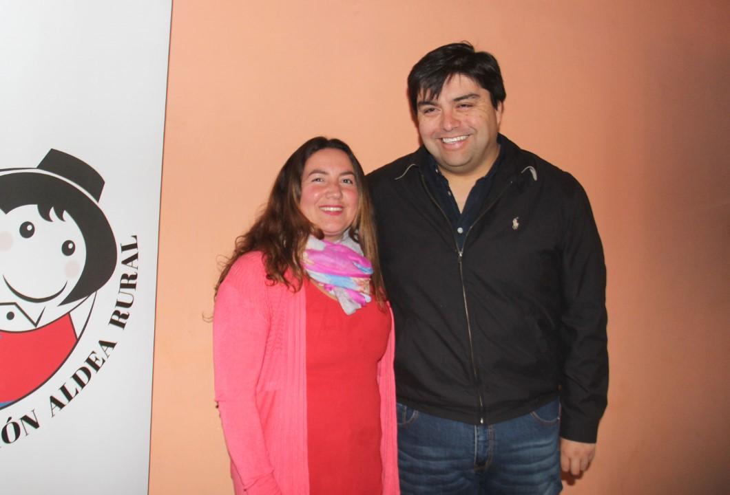 María Sepúlveda y Hansel Silva