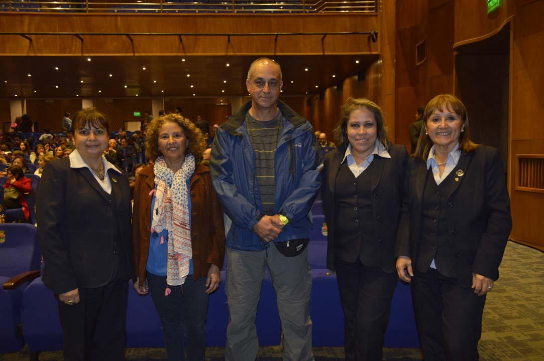 Jacqueline Vergara, María Isabel Ormazábal, Alfonso Romero, Claudia Torres y Georgina Salamanca