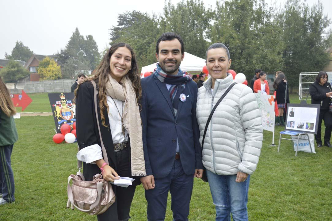 María José Herrera, Claudio Garrido y Sandra Villablanca