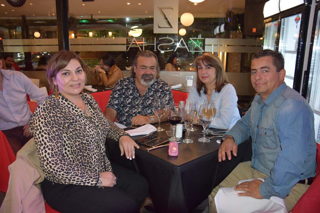 Claudia Leiva, Roberto Minder, Marcia González y Hans Chandía