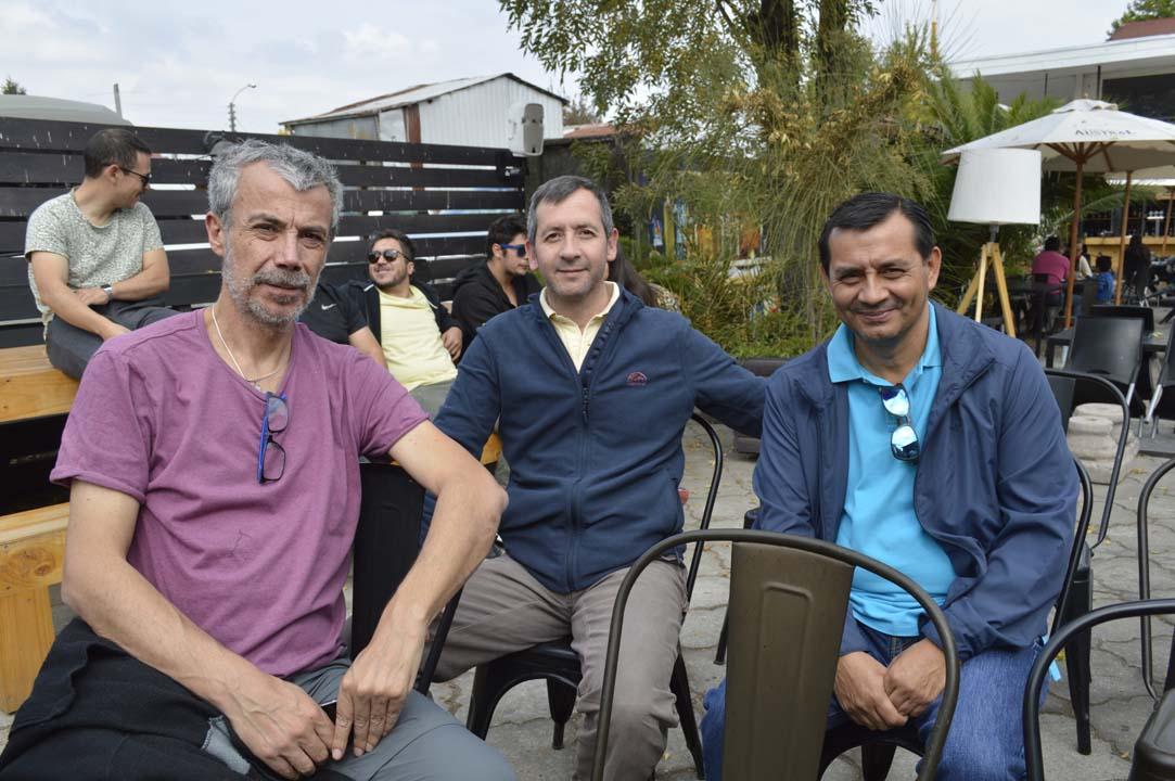 Andrés Berríos, Paulo Segura y Mario Gutiérrez