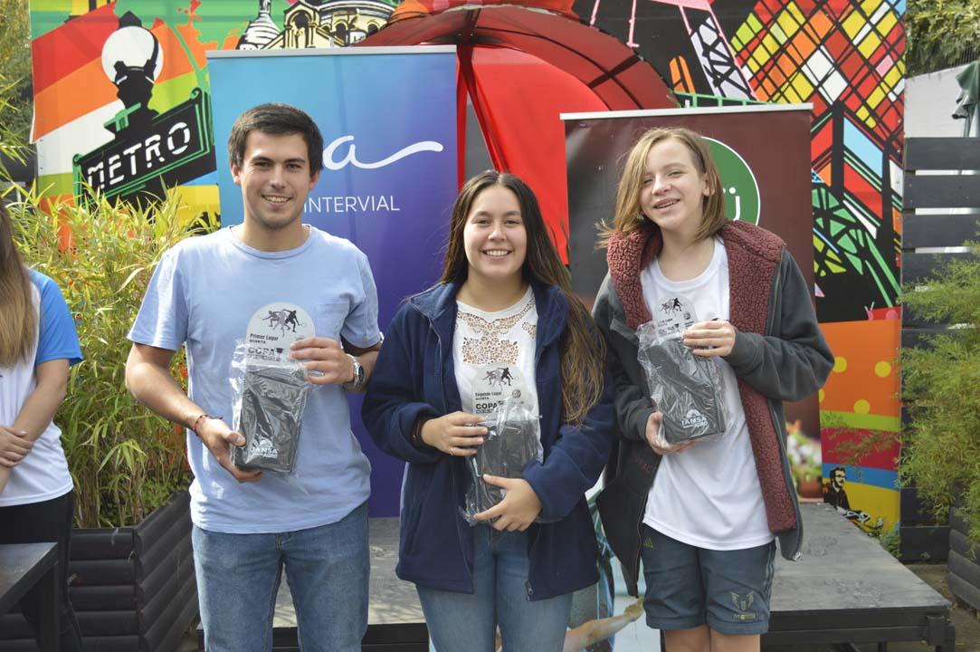 Categoría 5: Dieter Oehrens (primero), Amparo Schulz (segundo) y Ignacio Segura (tercero)