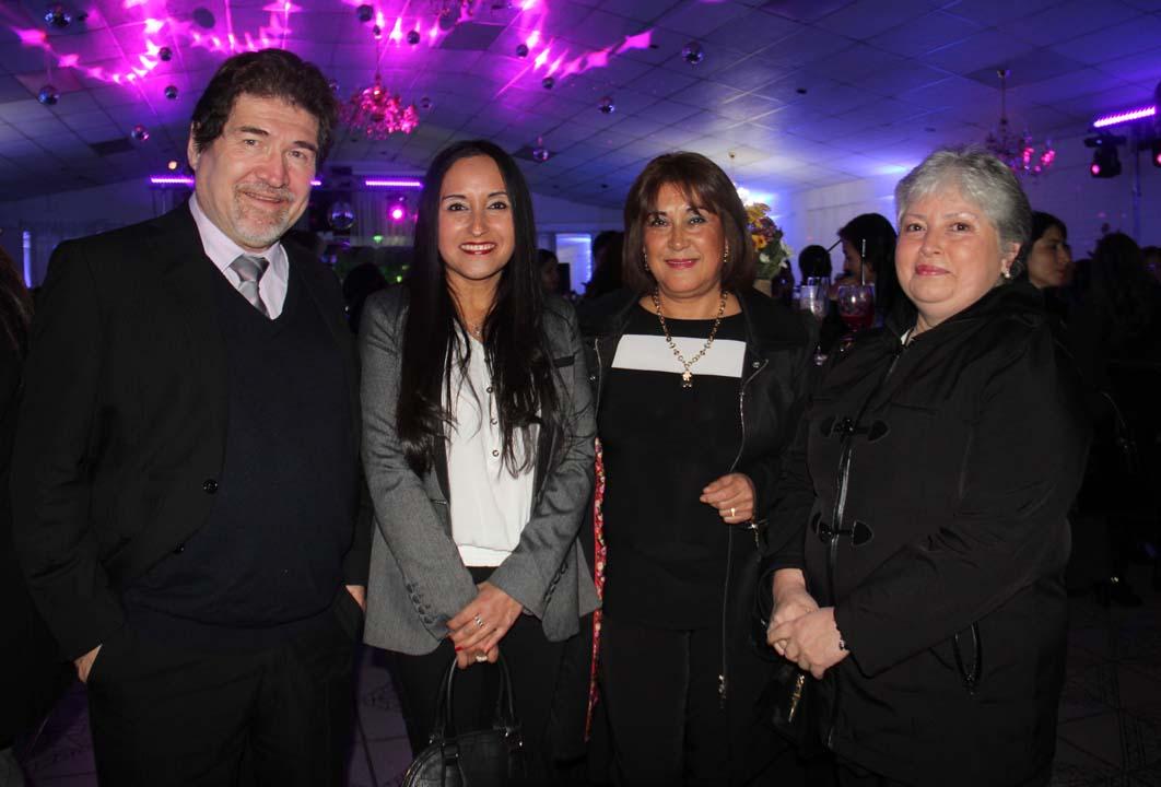 Luis Gutiérrez, Leyla Contreras, Verónica Henríquez e Isabel Marambio