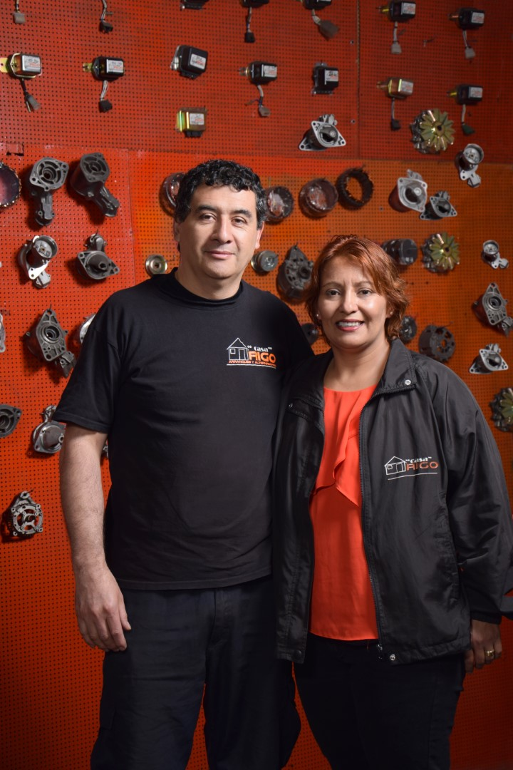Yenniffer Gutiérrez y Rigoberto Bernal