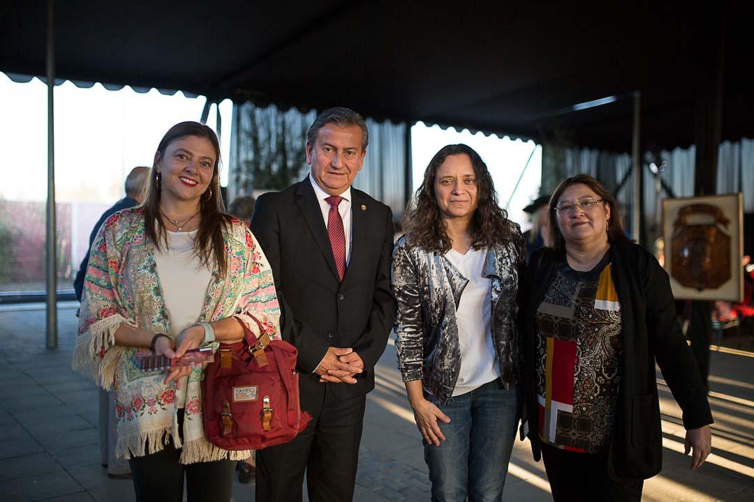 Daniella Gillmore, Jorge Silva alcalde San Javier, Marcela Leni y Danisa Poblete
