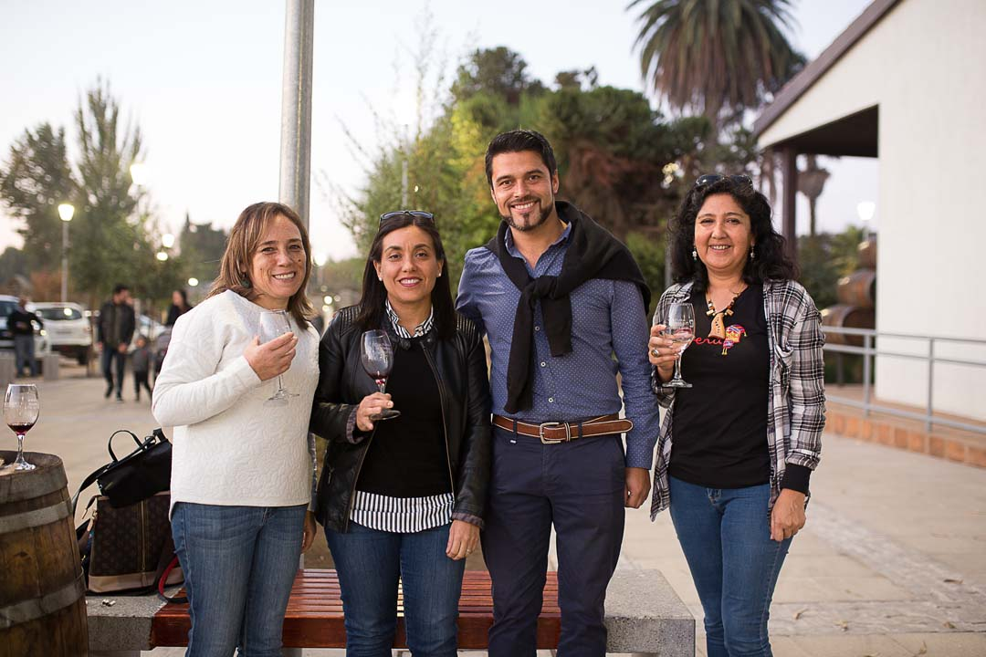Blanca Carreño (CFT del Maule), Daniela Acuña (Viña Balduzzi), Miguel Fuentes (Cava Boutique del Maule) y Paula Norambuena (CFT del Maule)