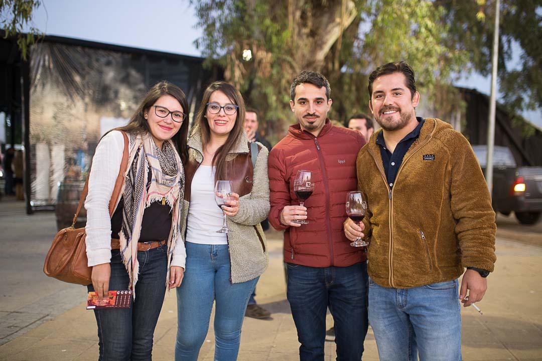 Laura Suazo, Alejandra Espinosa, Claudio Elgueta y Marcelo González