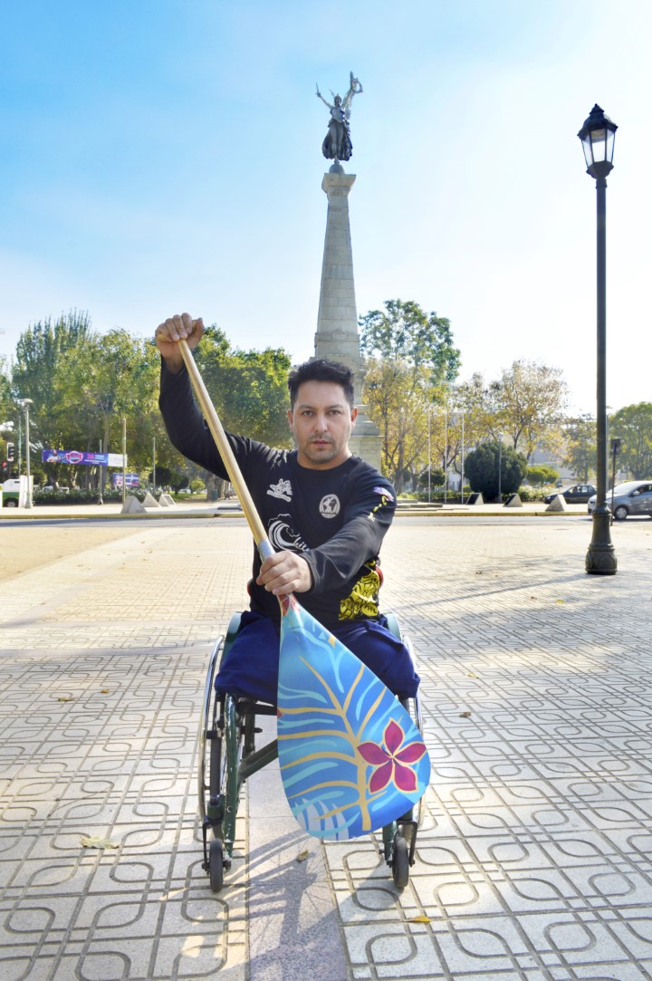 Photo of Franco Gutiérrez, deportista de kayak y canoa polinésica
