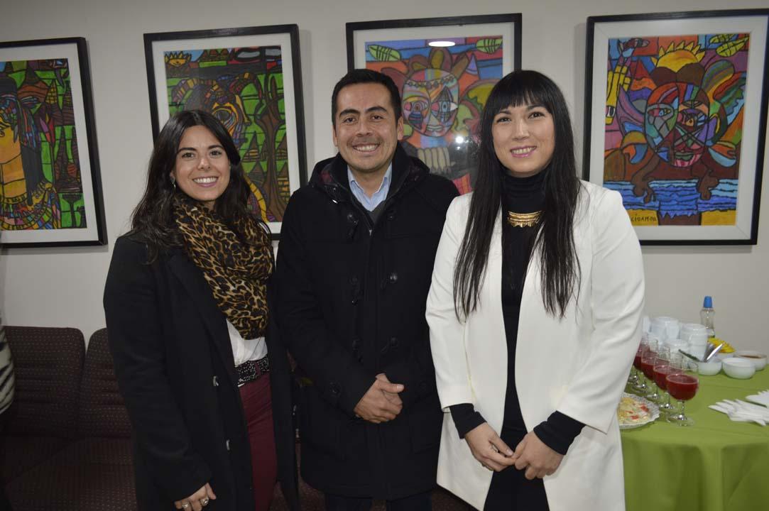 Isidora Rabié, Isaac Peralta y Emily Palomino