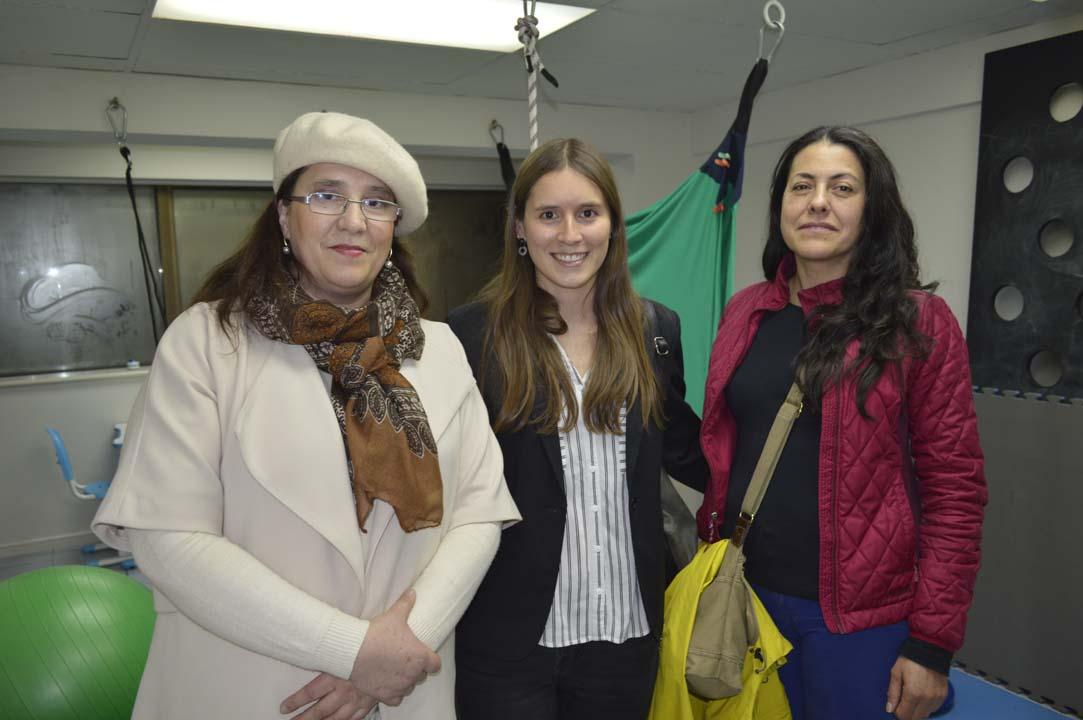 Carmen Gloria Contreras, Valentina Riveros y Danisa Bosich