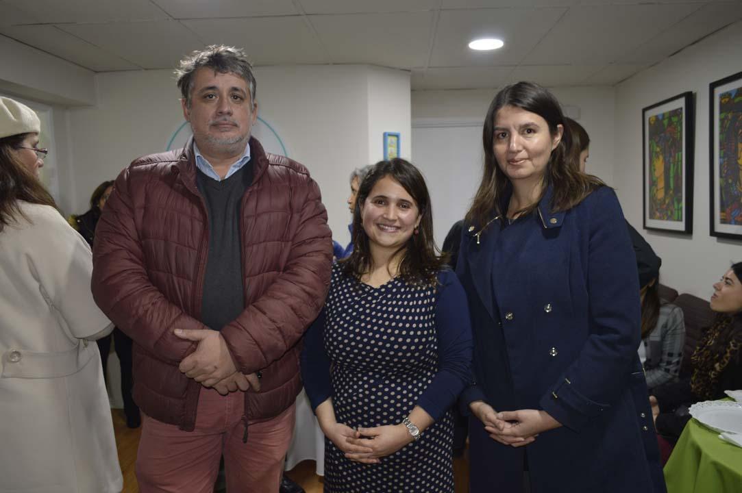 Luciano Sobrevía, Gabriela Mora y Lorena Vera