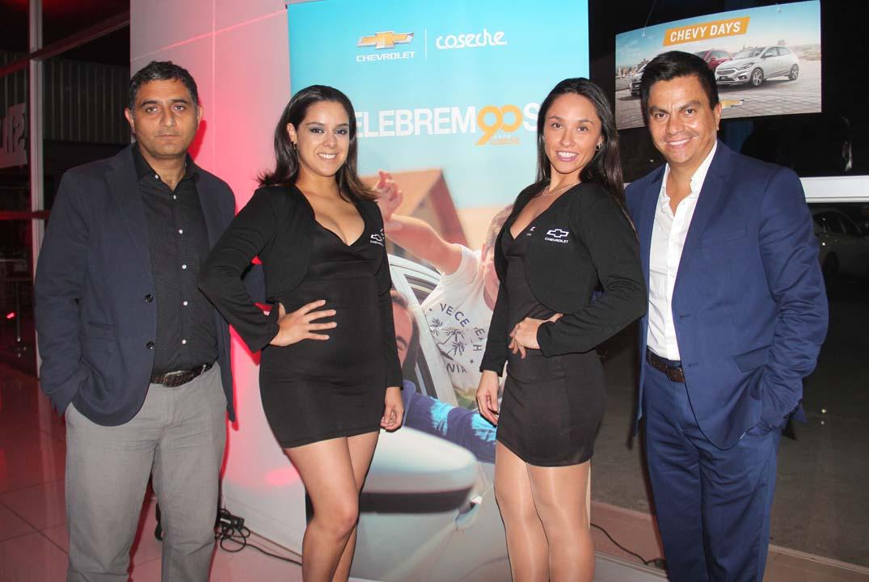 Juan Pablo Renault, Alejandra Muñoz, Constanza Muñoz y Rodrigo Riveros