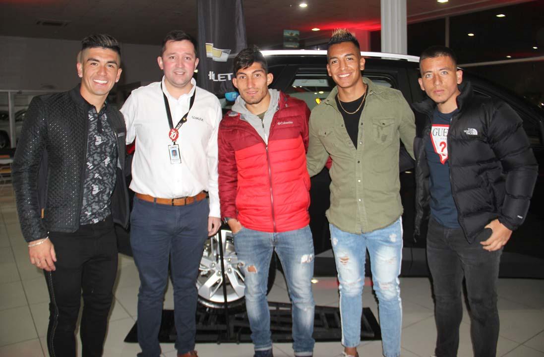 Andrés Díaz, Mauricio Navarrete, Mathias Pinto, Jorge Faúndez y Jorge Orellana