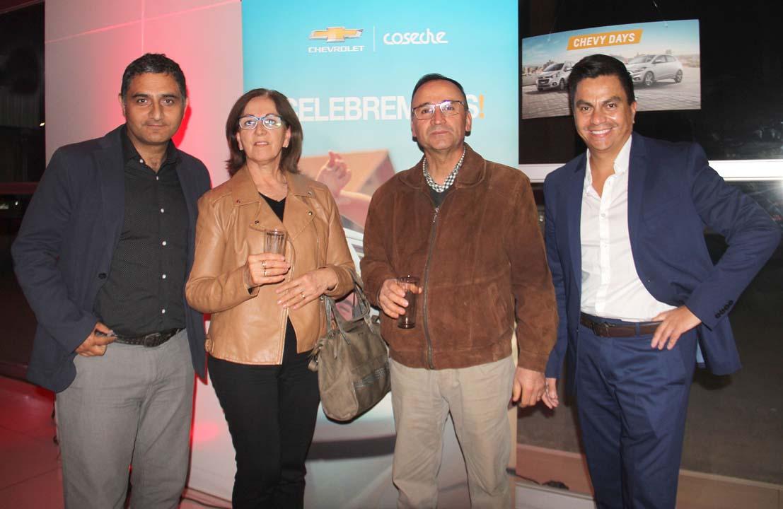 Juan Pablo Renault, Ruth Herrera, Luis Vallejos y Rodrigo Riveros