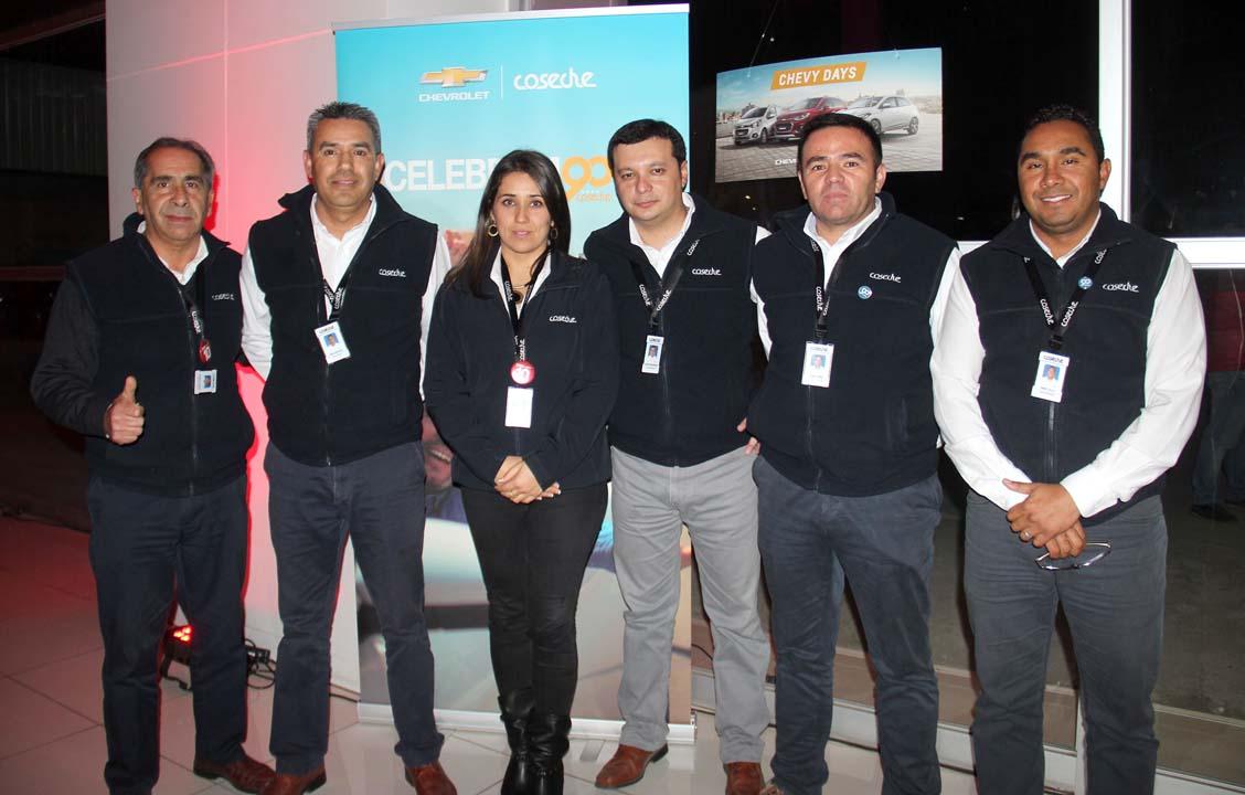 Eduardo Fuentes, José Luis Reyes, Camila Cid, Claudio Bahamondes, Michel Rubio y Daniel Villa