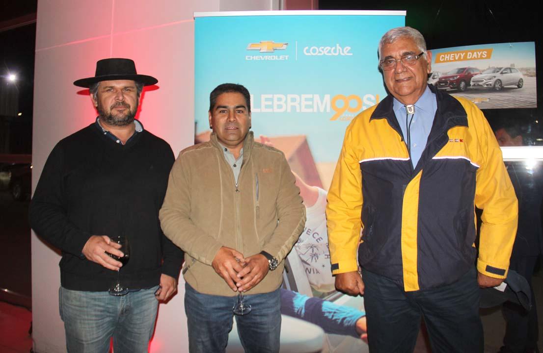 Jorge Hellman, Roberto Villablanca y Emilio Daroch