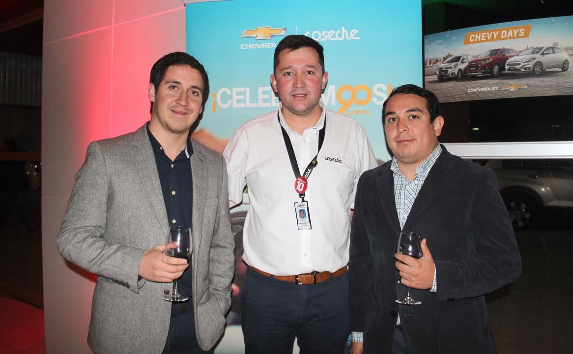 Richard Guzmán, Mauricio Navarrete y Carlos Araya