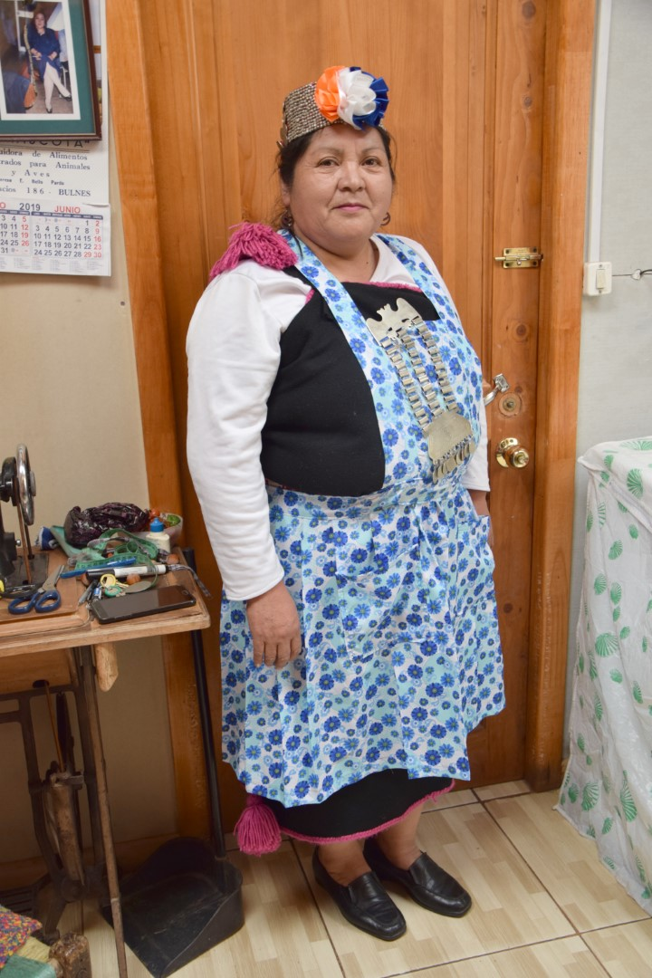 Aurora Morales Paine, mujer mapuche