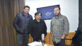 Daniel Rosales, Rodrigo Villanueva y Alberto Ibarra