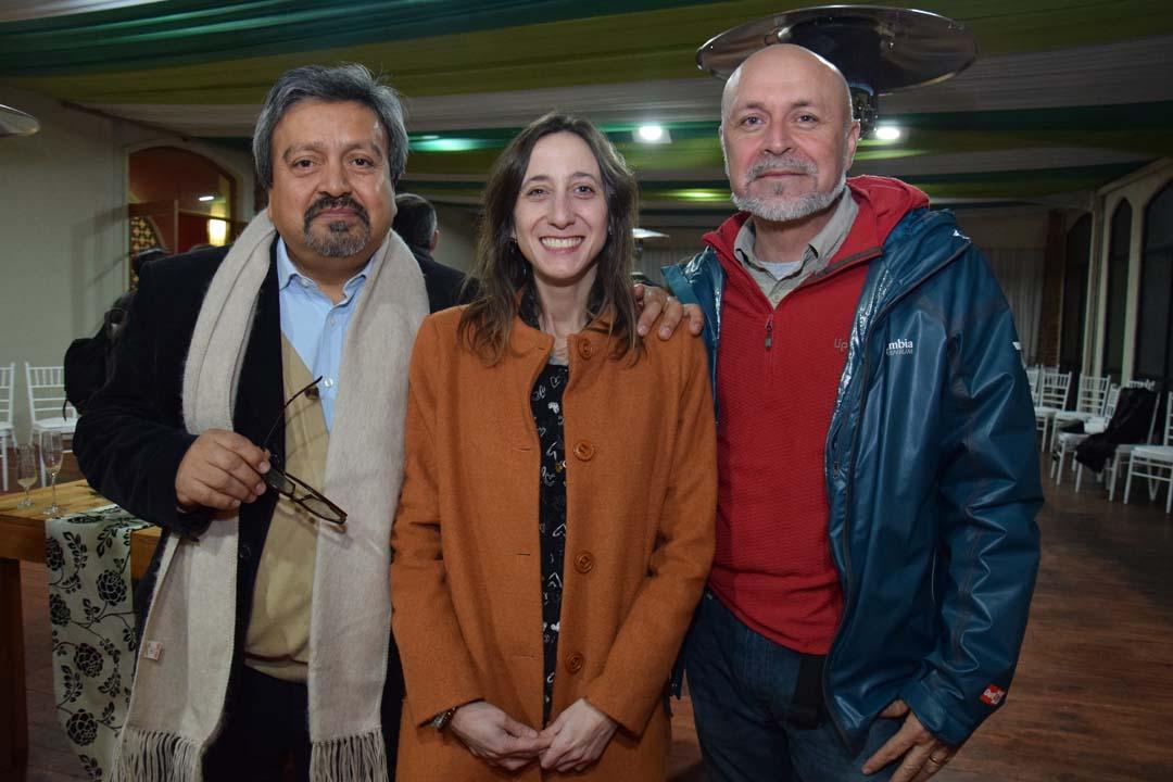 Carlos Astorga, María José Navarrete y Juan Carlos Sepúlveda