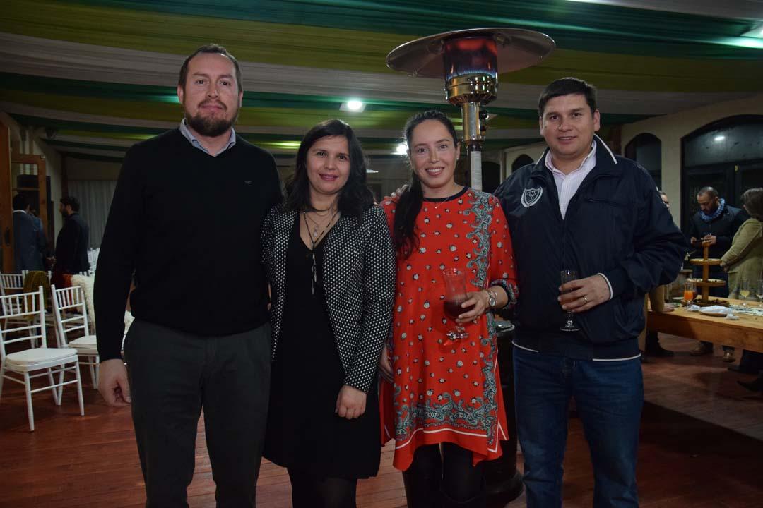 Rodrigo Lincoñir, Alejandra Villablanca, Andrea Landaida y José Alfredo Merino