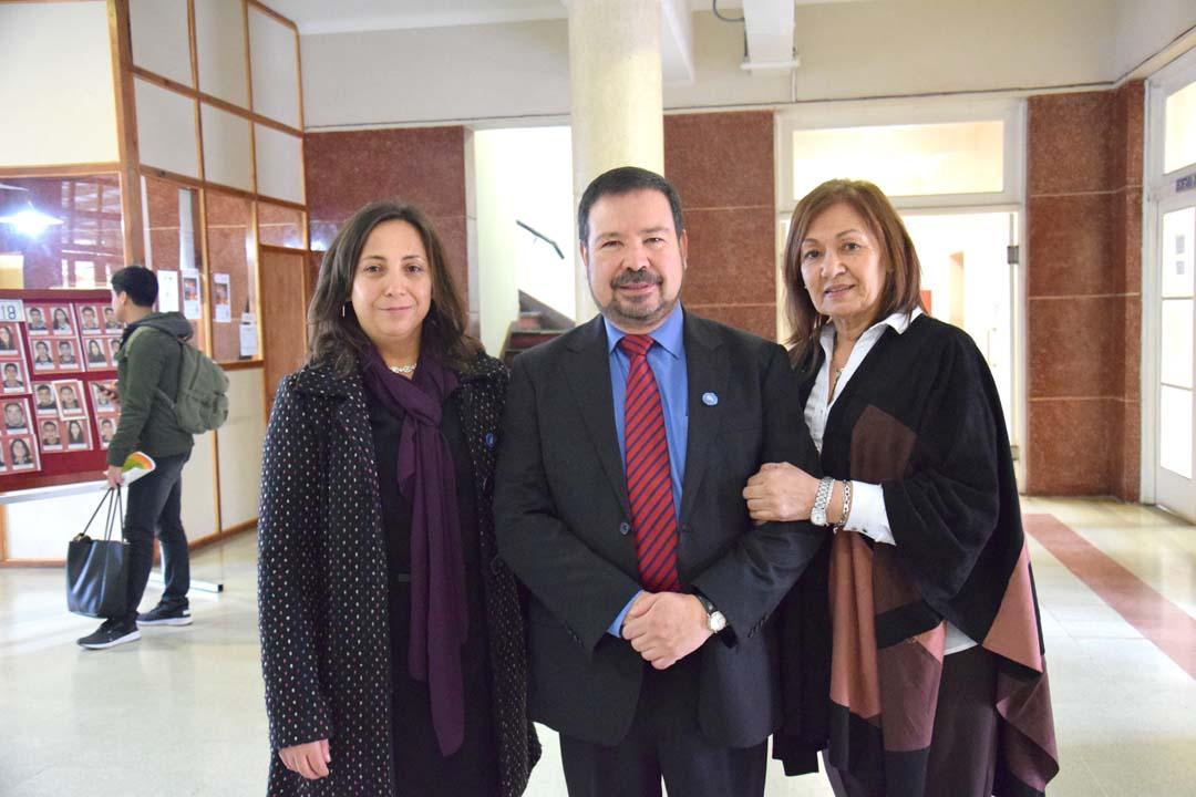 Elizabeth Sáez, Clemente Llanos y Carmen Díaz