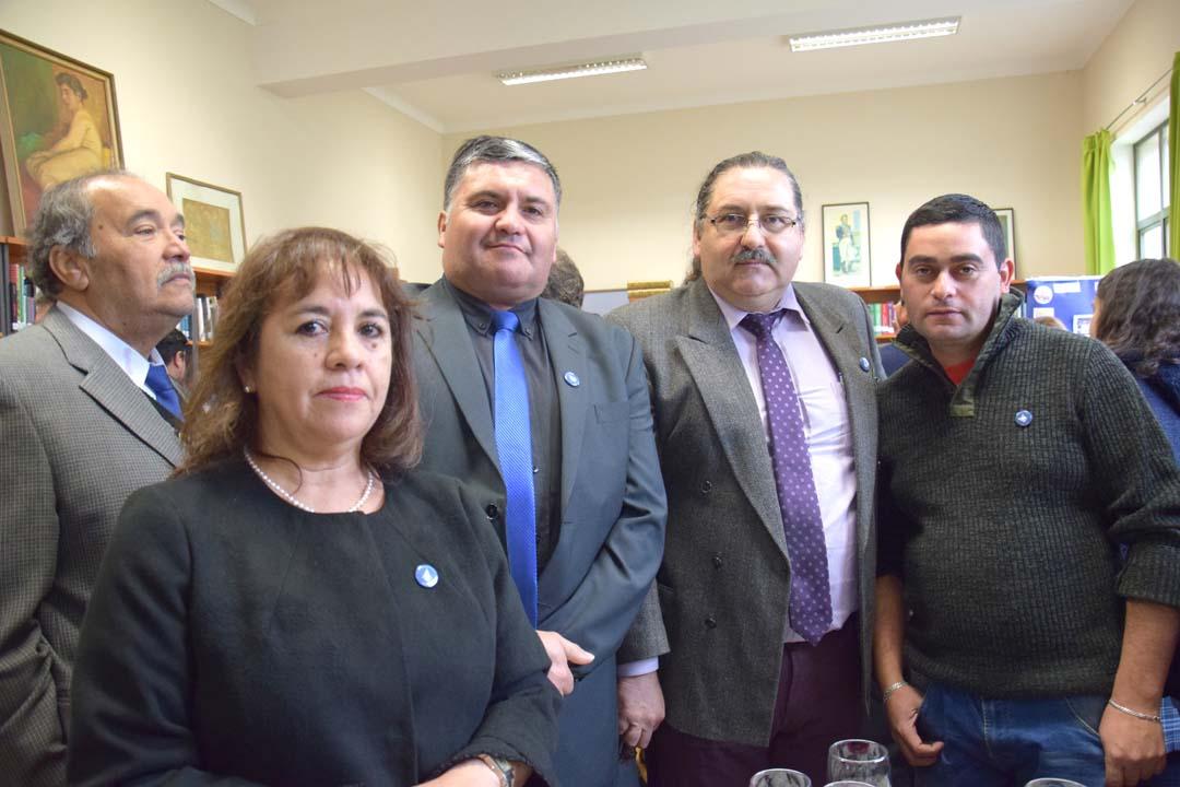 Albina González, Nelson Silva, Víctor Arias y Cristian Chandía