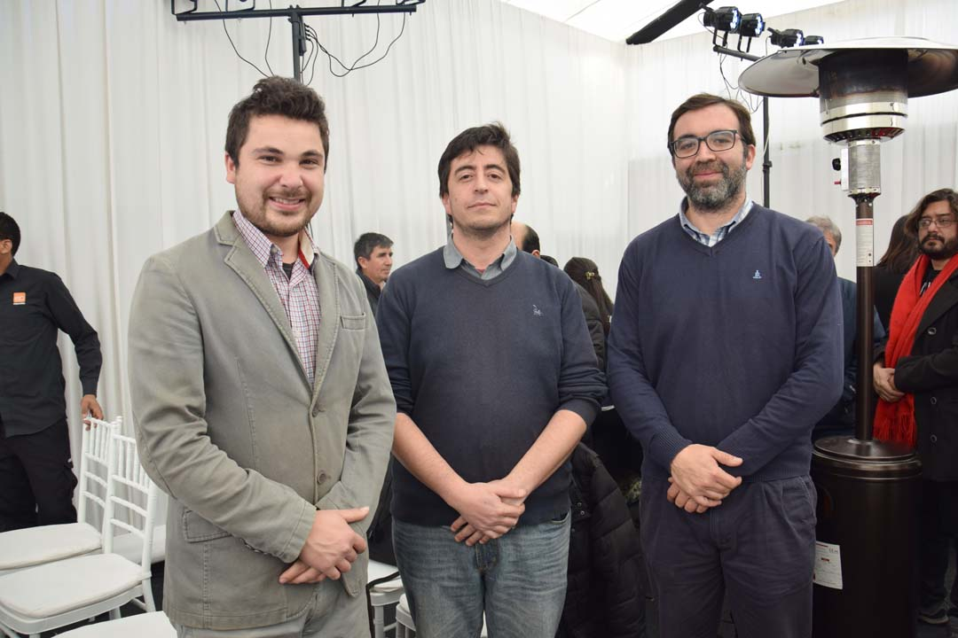 Felipe Neira, Roberto Fernández y Guillermo Pascual