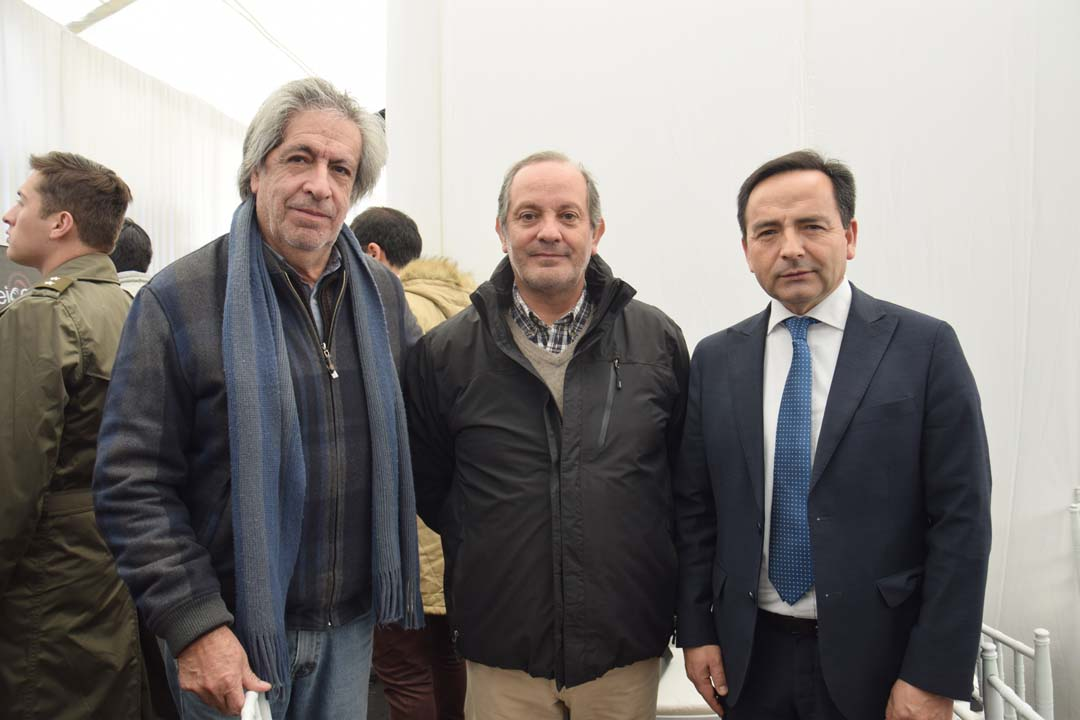 Jorge Vera, Augusto Carrallo y Daniel Sepúlveda, director regional de Corfo