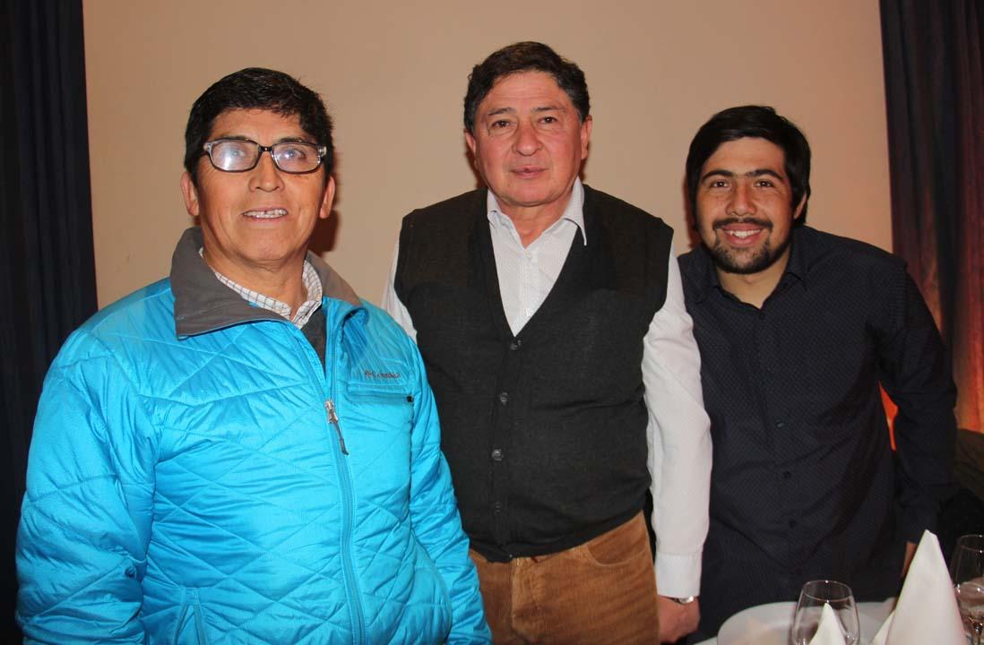 Isaías Vergara, Rafael Adasme y Oscar Morales