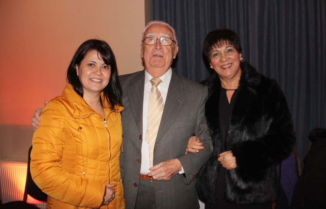 Olga Elgueta, Luis Salgado y Silvia Cerda