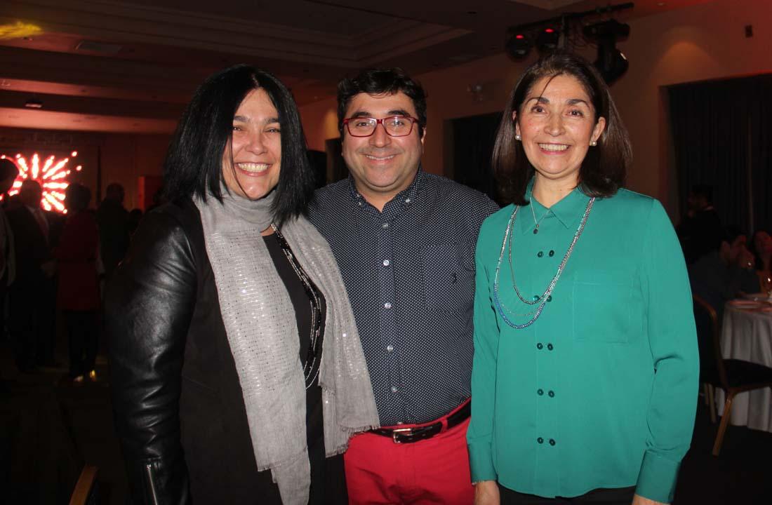 Claudia Tramón, Mauricio López y Edith Yáñez