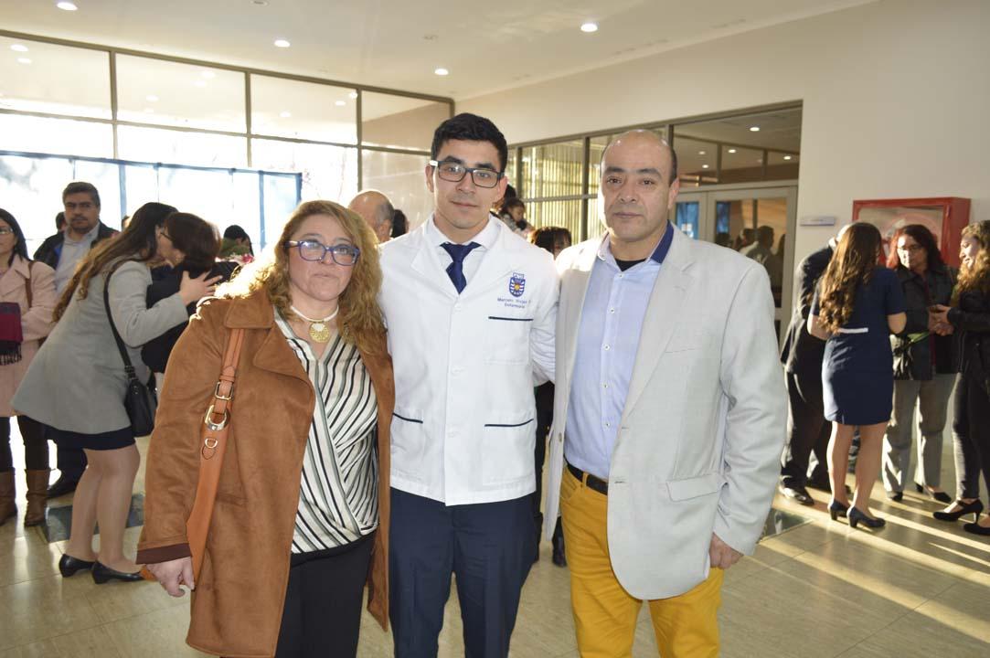 Flor Burgos, Marcelo Rojas y Claudio Rojas