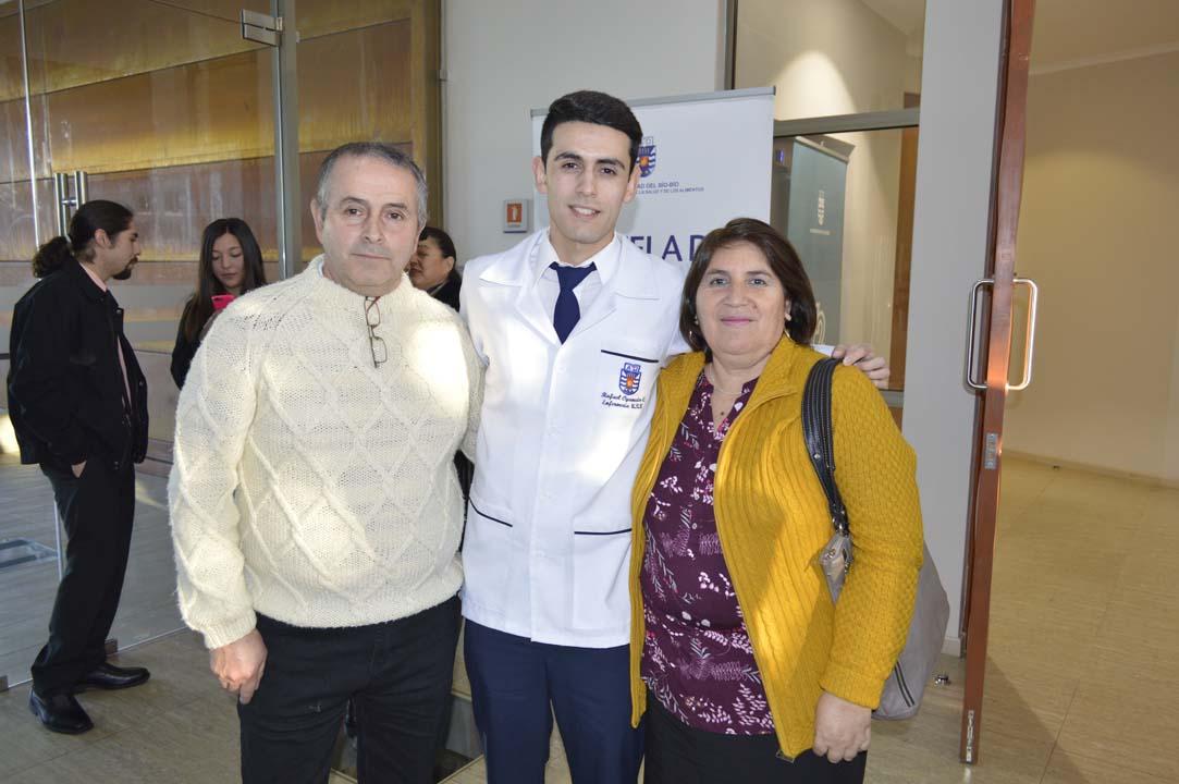 Carlos Oyaneder, Rafael Oyaneder y Ana Contreras