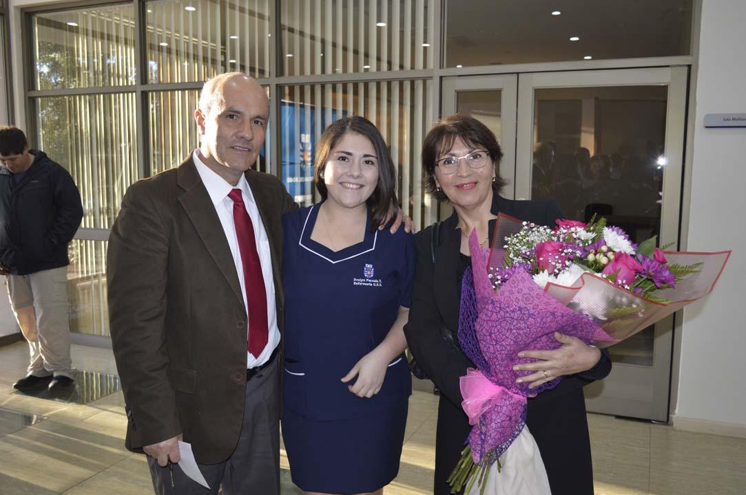 Richard Ferrada, Evelyn Ferrada y Carmen Luz Riquelme