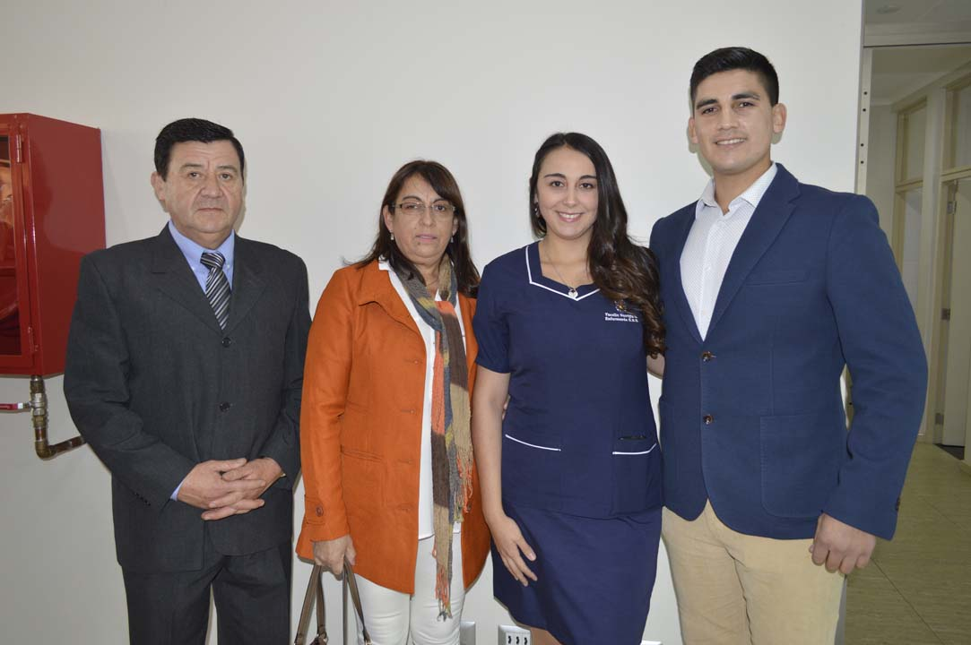 Jacinto Venegas, María Gómez, Yocelin Venegas y Víctor Umaña