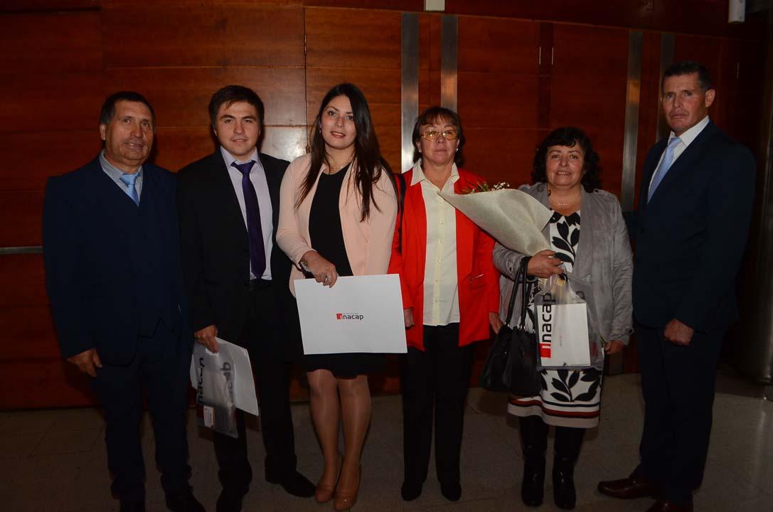 Jacob Valdebenito, Eugenio Valdebenito, Abigail Salas, Sandra Pérez, Cristina Hurtado y José Salas