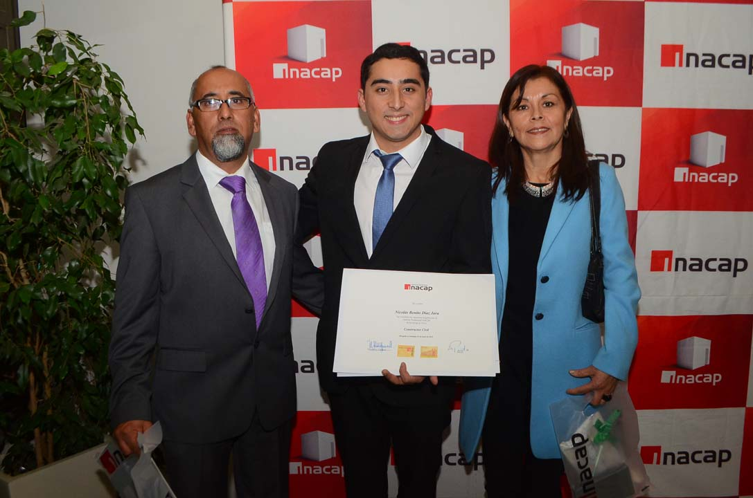 Benito Díaz, Nicolás Díaz y Rosa Jara