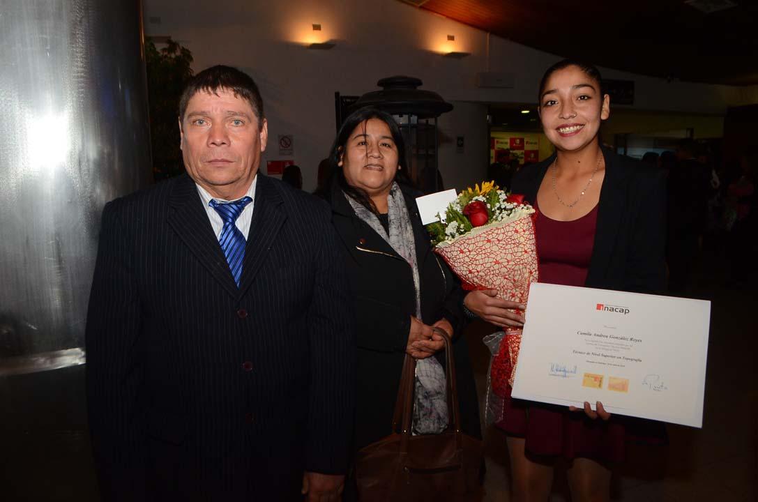 Basilio González, Eliana Reyes y Camila González