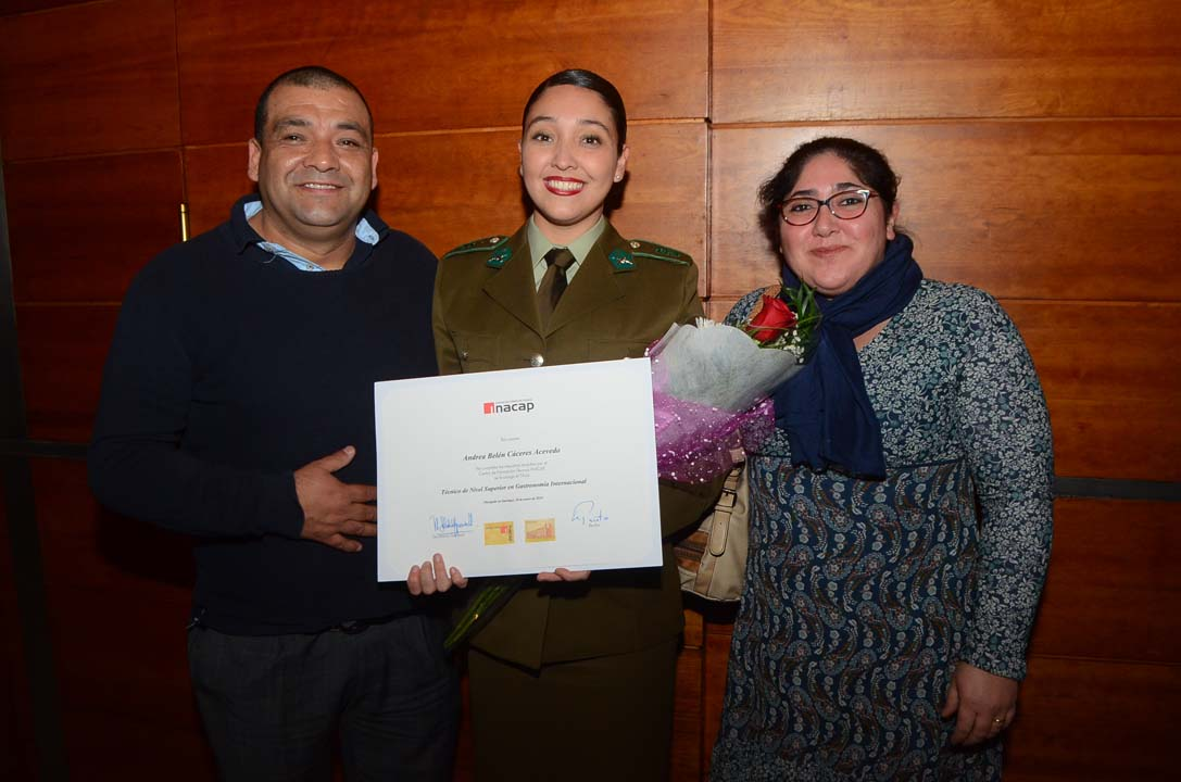 Jorge Cáceres, Andrea Cáceres y Cristina Acevedo