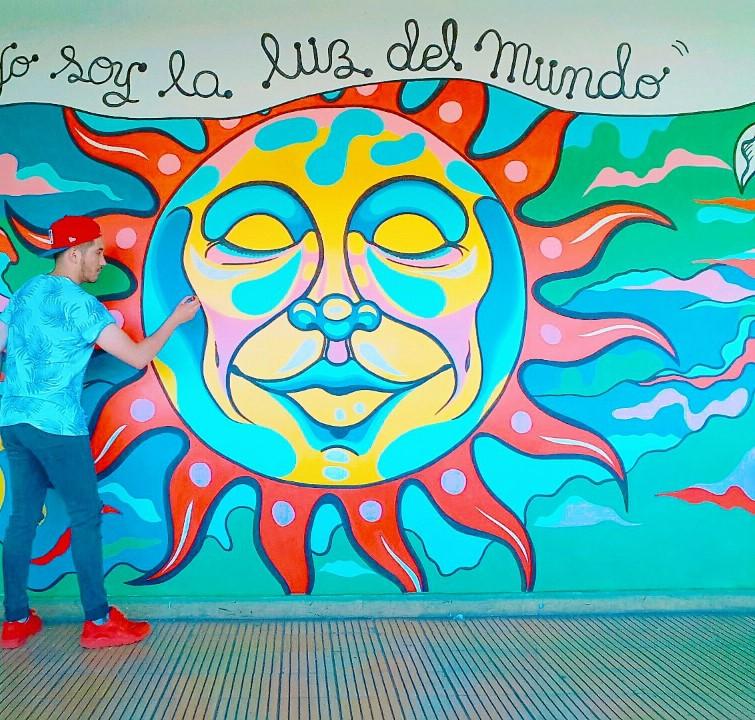Matías Saavedra, muralista angelino