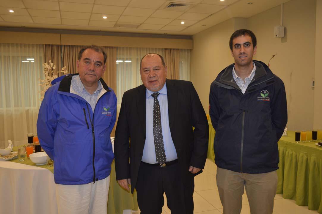 Rodolfo Campos, Domingo Sáez y Gonzalo Rueda